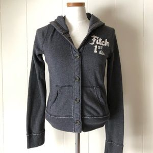 Abercrombie & Fitch Button-up Logo Hoodie